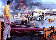 CVA-59 fire1967 burning ac