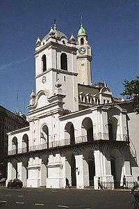 Cabildo de Buenos Aires en julio de 2005