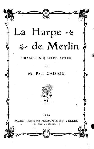File:Cadiou - La Harpe de Merlin.djvu