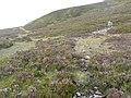 Cairn beside track over Meall na Mòine - geograph.org.uk - 1426885.jpg