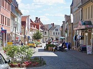 Calbe - Image: Calbe Grabenstraße