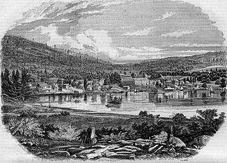 Lake George (village), New York - Village of Lake George in 1854