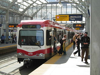 Transportation in Calgary - C-Train at City Hall Station