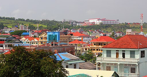 City view of Sihanoukville, Cambodia.