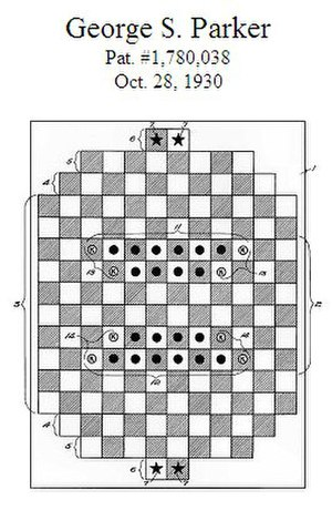 Camelot (board game) - Camelot patent drawing, 1930