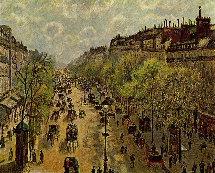 file camille pissarro boulevard montmartre printemps israel wikimedia commons. Black Bedroom Furniture Sets. Home Design Ideas