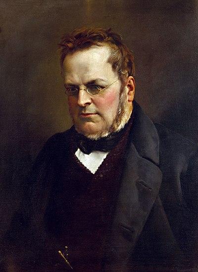 Camillo Benso, conde de Cavour. Retrato de Antonio Ciseri