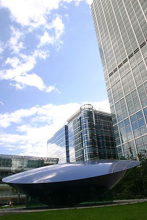 Canada Square - Canada Square looking eastwards