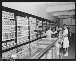 Canned goods in a U.S. Coal and Coke company store in Gary, West Virginia - NARA - 540841.jpg