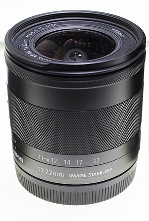 Canon EF-M lens mount - Image: Canon EF M f 4.5 5.6 11 22mm