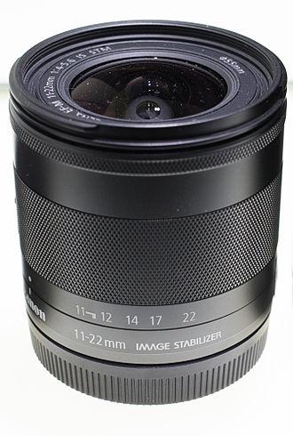 Canon EF-M lens mount - Image: Canon EF M f 4.5 5.6 11 22mm