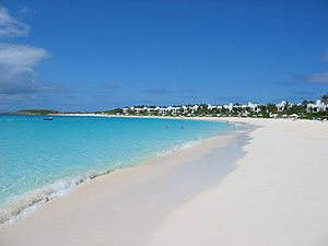 Anguilla - The beach at the Cap Juluca resort on Maundays Bay