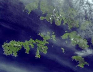 Cabo de Hornos National Park - Satellite image of Hermite Islands