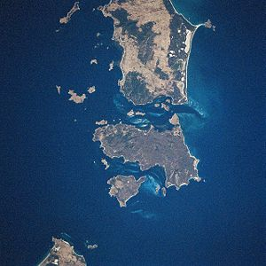 Cape Barren Island - Cape Barren Island (center) from space, January 1997