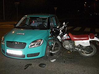 Traffic collision When a vehicle collides with another object