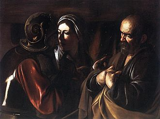 1610 in art - Image: Caravaggio denial