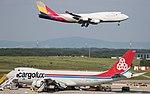 Cargolux Boeing 747-8 LX-VCI - Asiana Cargo Boeing 747-400F HL7421 (34699323000).jpg