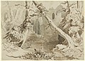 Carl Blechen, A Ruined Church in the Forest, c. 1834, NGA 139108.jpg