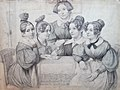 Carl Ferdinand Sohn, Zeichnung der Schwestern von Mülmann, ca.1833.jpg