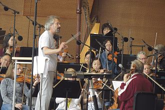 Carlos Kalmar - Carlos Kalmar, shown here rehearsing with Chicago's summer orchestra.