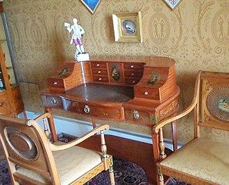 Carlton House desk - A richly decorated version of a Carlton House desk
