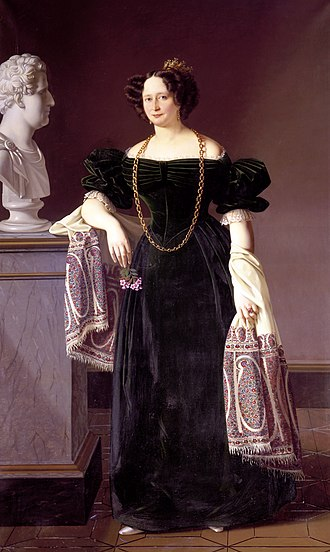Caroline Amalie of Augustenburg - Portrait by Louis Aumont, 1830