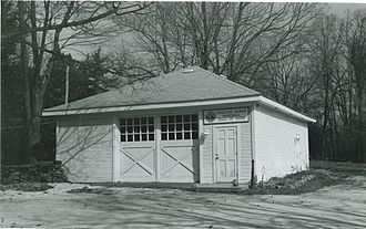 The Summit County Historical Society of Akron, Ohio - The renovated Carriage House, shown here when it housed the Greater Akron Baseball Hall of Fame, now serves as a research space.