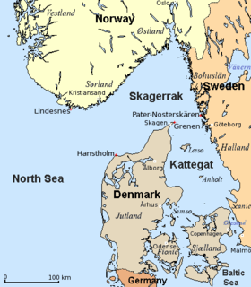 sea area between Denmark and Sweden