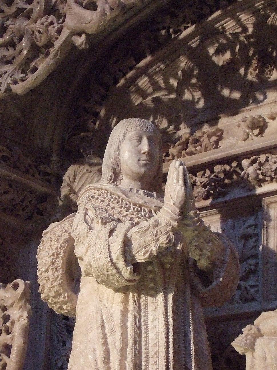 Cartuja de Miraflores (Burgos) - Tumba de Alfonso de Castilla - Detalle