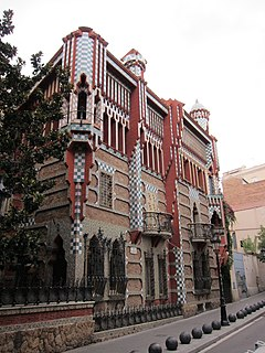 family residence in Barcelona (Catalonia, Spain), designed by Antoni Gaudí and built for industrialist Manuel Vicens