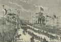 Casamento de S.A. o Príncipe Real D. Carlos de Bragança - A Parada do dia 25 de Maio de 1886, Tropas Desfilando em Frente da Tribuna Real, na Avenida da Liberdade.png