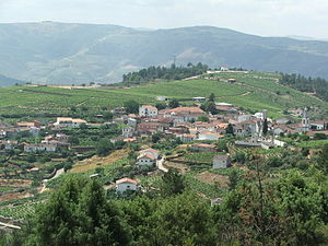 Alijó - The parish of Castedo (do Douro) in rolling hills of the municipality