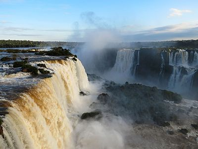 Iguazu Falls - view from the observation deck.