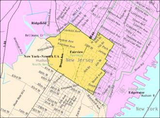 Fairview, Bergen County, New Jersey - Image: Census Bureau map of Fairview, New Jersey
