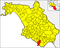 Centola within the Province of Salerno