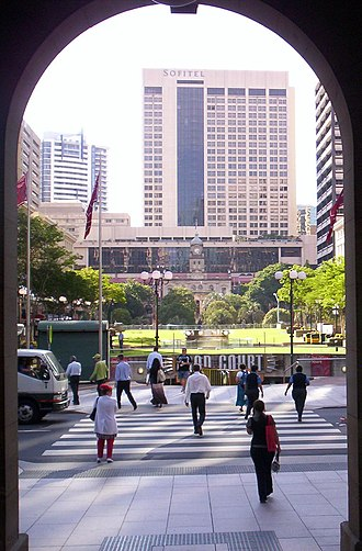 General Post Office, Brisbane - Image: Central Station and Anzac Square from Brisbane GPO