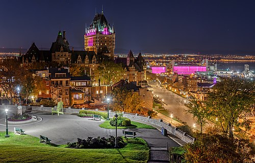 Château Frontenac at night, Quebec Ville, Canada