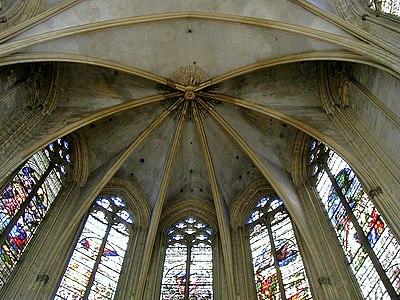 Château de Vincennes - Sainte-Chapelle - Voûte du choeur