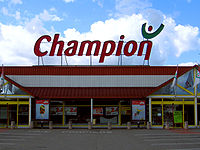 Un supermarché Champion