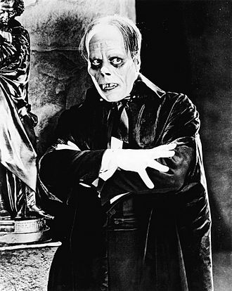 "Disfigurement - Lon Chaney's version of ""Erik"" in the 1925 film The Phantom of the Opera had pervasive facial disfigurements, including jagged teeth and sunken-in eyes."