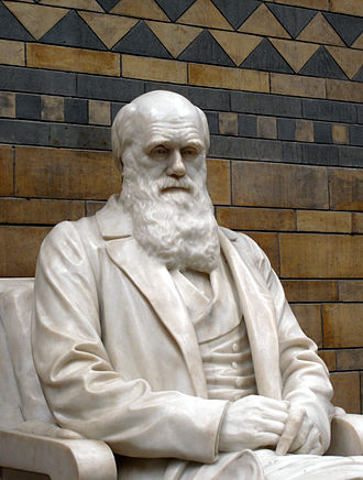 Commemoration of Charles Darwin - Statue of Charles Darwin at the Natural History Museum in London