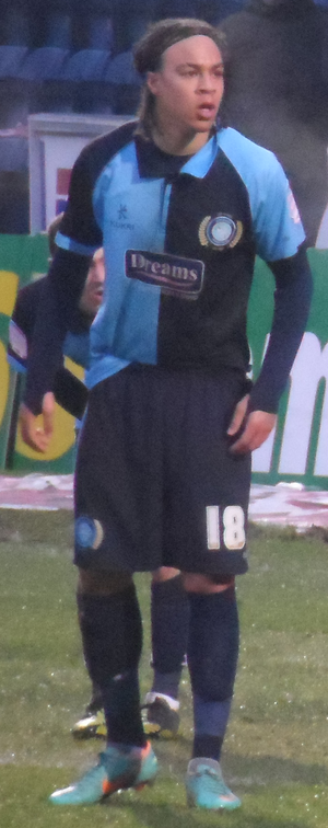 Charles Dunne - Dunne playing for Wycombe Wanderers in 2013