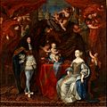 Charles Emmanuel II, Duke of Savoy with his son and wife Marie Jeanne of Savoy by an unknown artist.jpg