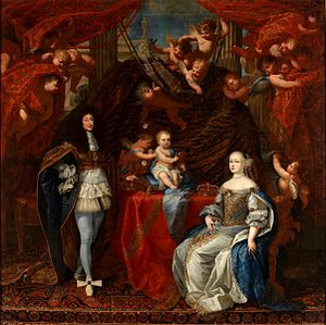 Marie Jeanne Baptiste of Savoy-Nemours - Marie Jeanne with her husband and son in 1666 by an unknown artist