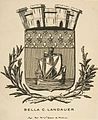 Charles Meryon, Coat-of-Arms Symbolizing the City of Paris; Bookplate of Bella C. Landauer.jpg