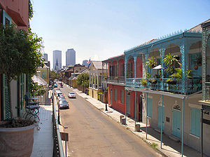 Buildings and architecture of New Orleans - Colorful architecture in New Orleans, both old and new