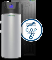 Chauffe eau thermodynamique h liothermique wikip dia - Chauffe eau thermodynamique cop ...