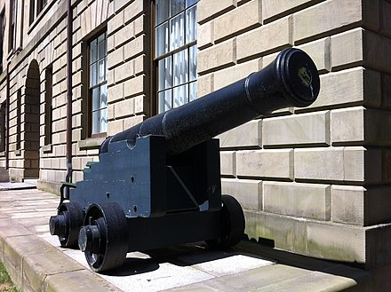 Cannon from Chesapeake ChesapeakeCanonProvinceHouseNovaScotia.JPG