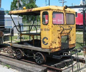 Speeder - A former Chessie System speeder at the Linden Railroad Museum, Linden, Indiana