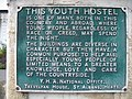 Chester Youth Hostel Plaque - close up - geograph.org.uk - 1505416.jpg